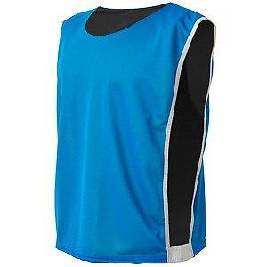Colete de Futebol Dupla Face Dry Azul Celeste com Preto