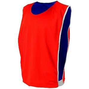 Colete de Futebol Dupla Face Dry Vermelho com Azul Royal