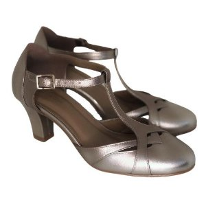 Sapato de Dança Boneca Prata Velho