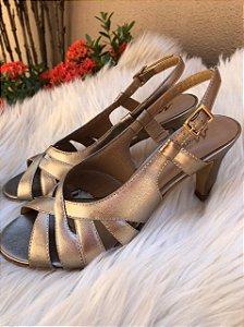 Sandália Comfort Caprina Prata Velho