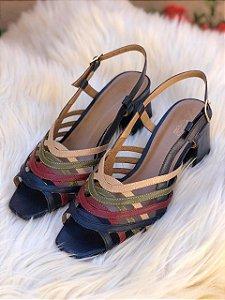 Sandália Tiras Coloridas