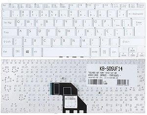 Teclado Compativel Com Sony Svf14 svf14e Svf14213cbp Svf14213cbb Svf14212cxb Svf14212cxw Svf142c29x Shift Longo