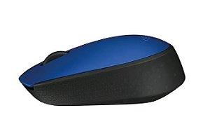 Mouse sem fio - Logitech m170 - azul e preto