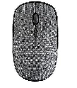 Mouse Sem Fio - 1200DPI - GTMO1 -  Goldentec - em Tecido Cinza