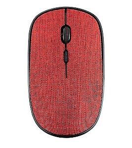 Mouse Sem Fio - 1200DPI - GTMO1 - Goldentec - em Tecido Vermelho