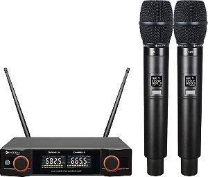 K402M Kadosh - Sistema Duplo UHF de Microfones sem Fio