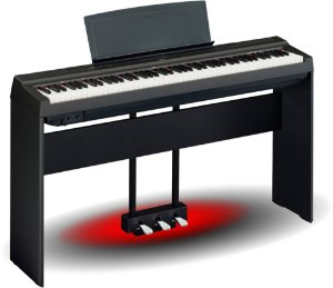 Piano Digital Yamaha P125 Completo. Com Estante L125 + Pedal Triplo LP1B