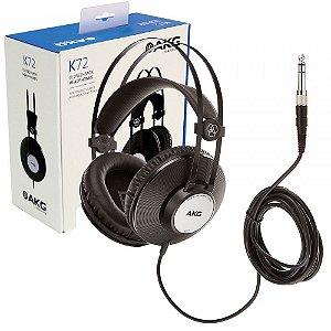 FONE AKG K72 PARA ESTUDIO DJ ORIGINAL 1 ANO DE GARANTIA