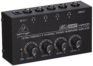 Microamp Ha400 Behringer 4 Canais Amplificador de Fone