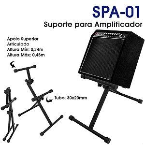 Suporte Regulável para Amplificador - SPA-01 - Cor Preta