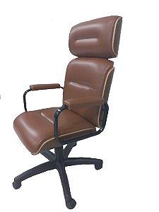 Cadeira Eames Presidente Linha Capa em Madeira Cor Caramelo