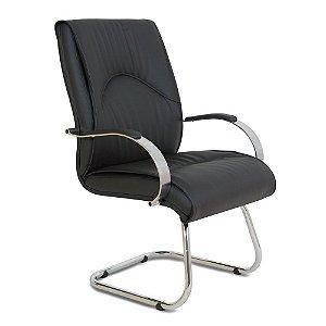 Cadeira Interlocutor para Sala de ReuniãoLinha Bologna Preto