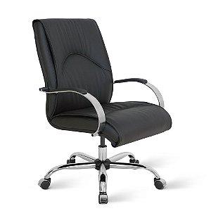 Cadeira Diretor para Escritório Linha Bologna Preto