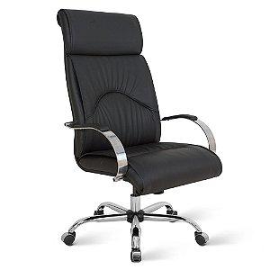 Cadeira Presidente para Escritório Linha Bologna Preto