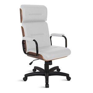 Cadeira Eames para Escritório Linha Capa em Madeira Branco