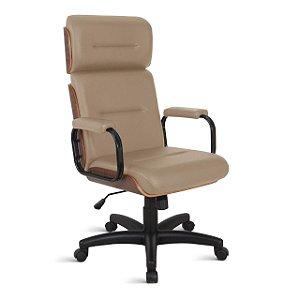 Cadeira Eames para Escritório Linha Capa em Madeira Bege