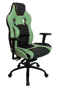 Cadeira Gamer com Almofada Linha Gamer Racing Verde