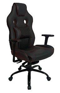 Cadeira Gamer com Almofada Linha Gamer Racing Preto