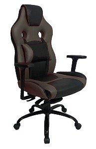 Cadeira Gamer com Almofada Linha Gamer Racing Marrom