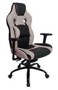 Cadeira Gamer com Almofada Linha Gamer Racing Cinza