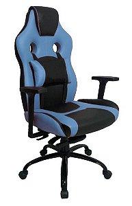 Cadeira Gamer com Almofada Linha Gamer Racing Azul