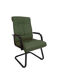 Cadeira Interlocutor para Escritório Linha Itália Verde