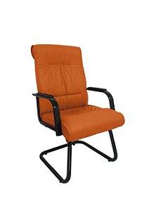 Cadeira Interlocutor para Escritório Linha Itália Laranja