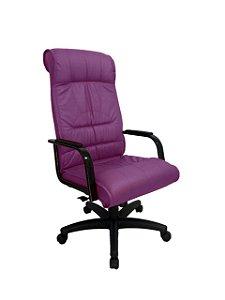Cadeira Presidente para Escritório Linha Itália Roxo