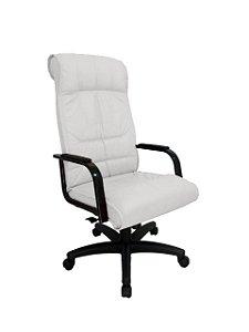 Cadeira Presidente para Escritório Linha Itália Branco