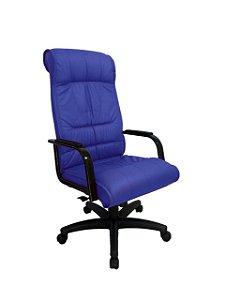 Cadeira Presidente para Escritório Linha Itália Azul