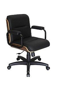 Cadeira Eames Diretor Linha Capa em Madeira Preto