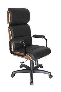 Cadeira Eames Presidente Linha Capa em Madeira Preto