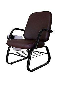 Cadeira para Obesos até 200kg Universitária  Linha Obeso Marrom