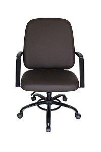 Cadeira Plus Size até 200kg Linha Plus Size Marrom