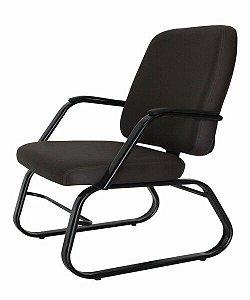 Cadeira para Obesos até 200kg Fixa  Linha Obeso Preto