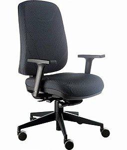 Cadeira Presidente com Base Giratória Linha New Confort Preto
