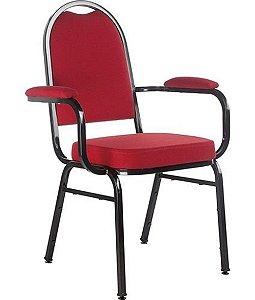 Cadeira com braços Empilhável para Auditórios Linha Hotel Vermelho