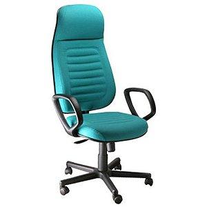 Cadeira Presidente com apoio de Cabeça Linha Blenda Azul