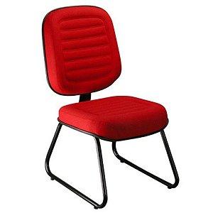 Cadeira Diretor sem Braços Linha Blenda Base Trapézio Vermelho