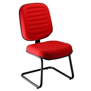 Cadeira Diretor sem Braços Linha Blenda Base Fixa em S Vermelho