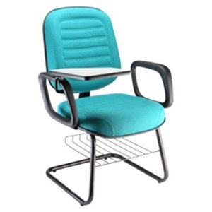 Cadeira Universitária Diretor Linha Blenda Porta Livros Azul