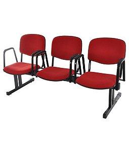 Cadeira em longarina para Auditórios Linha Hotel Auditório Vermelho