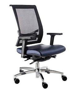 Cadeira Diretor com encosto Tela Mesh Linha Net Design Preto