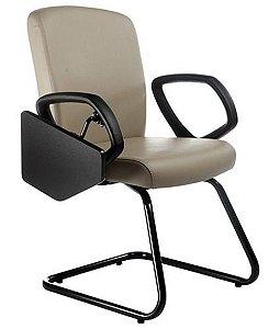 Cadeira Diretor Universitária com Base em S Linha Alpha Bege