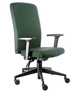 Cadeira Presidente Espaldar alto Linha Alpha Verde