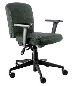 Cadeira Executiva com Braços  Linha Alpha Verde