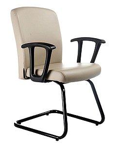 Cadeira Diretor Luxuosa com Base em S Linha Alpha Bege