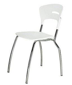 Cadeira em Polipropileno Linha Banqueta Escritório Candy Branco