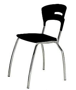 Cadeira em Polipropileno Linha Banqueta Escritório Candy Preto