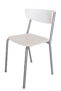 Cadeira em Polipropileno Linha Banqueta Escritório Smart Branco